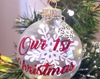 Our 1st Christmas Ornaments/Baby 1st Christmas/Merry Christmas