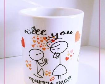 Will You Marry Me?, Engagement Mug, Engaged, Engagement.