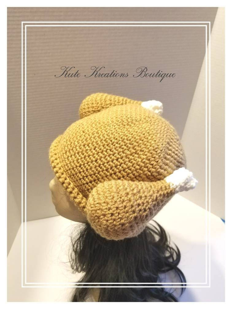 Crochet Turkey Dinner Hat Turkey Hat Babyadult Size Crochet