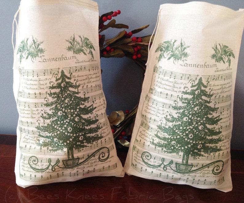 2 Tannenbaum Drawstring Musselin Gefallen Taschen Geschenk Groß Sternsinger TascheWein Weihnachtsbaum 7 X 11 CxBdoerW