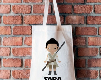 1 Tote Bag - Star Kids Inspired REY - Personalized Bag - 15x16