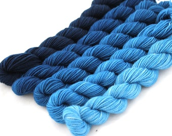 Dyed to Order - Postdoc - GRADIENT KIT, contains Five Hand Dyed Mini Skeins - Your Choice of Base