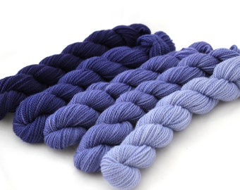 Dyed to Order - Committee - GRADIENT KIT, contains Five Hand Dyed Mini Skeins - Your Choice of Base