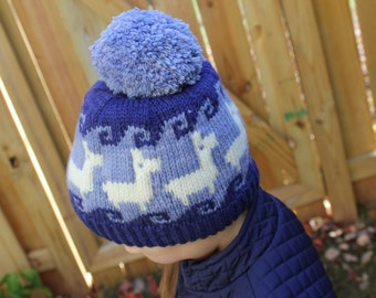 Laca Paca Hat Yarn Kit - Includes THREE colors of Quals, Worsted Weight Hand Dyed Yarn - Pattern Included!