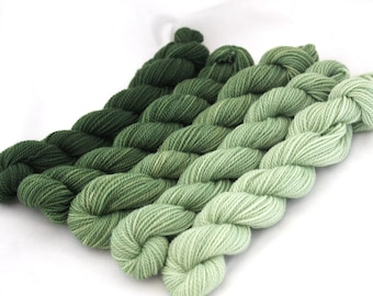 Dyed to Order - Composition - GRADIENT KIT, contains Five Hand Dyed Mini Skeins - Your Choice of Base