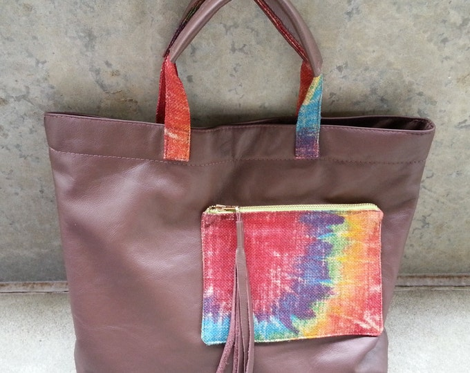Leather Handbag / Day Shopper / Overflow Bag / Tote / Purse / Overnight Bag