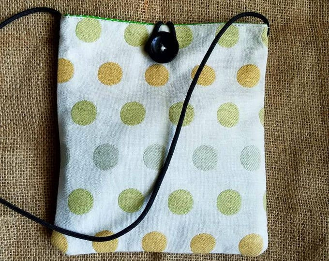 Clearance Item!! Bungee Sack in Yellow Dots