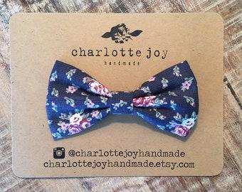 edbb3472717e The Landon Bow Tie in Navy Bloom - Baby Bow Tie - Toddler Bow Tie - Boys  Bow Tie - Clip on Bow Tie