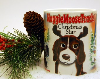 FEEL PAWSOME! MaggieMooseTracks Christmas Star Mug