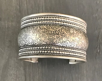 Stackable Ring Vintage Silver Open Ring Hmong Tribal Jewelry Statement Ring Bridesmaid Gift Anniversary Gift