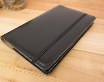 Moleskine Cover, Notebook Cover, Leather Journal, Leather Notebook, Journal Cover, Leather Cover, Large Moleskine, Bullet Journal, Black