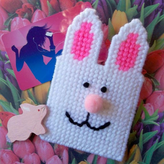 Plastic Canvas Easter Bunny Gift Card Holder Etsy