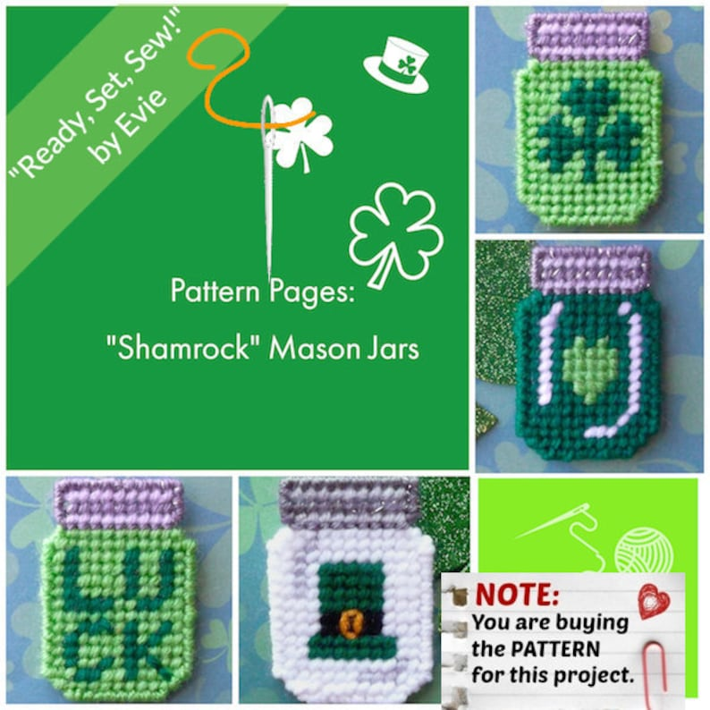 Shamrock Mason Jars Pattern Sheet
