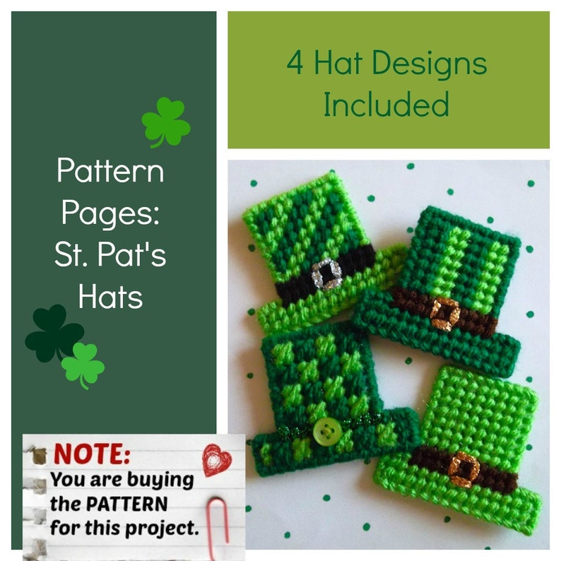 St Pat's Hats Pattern Sheet