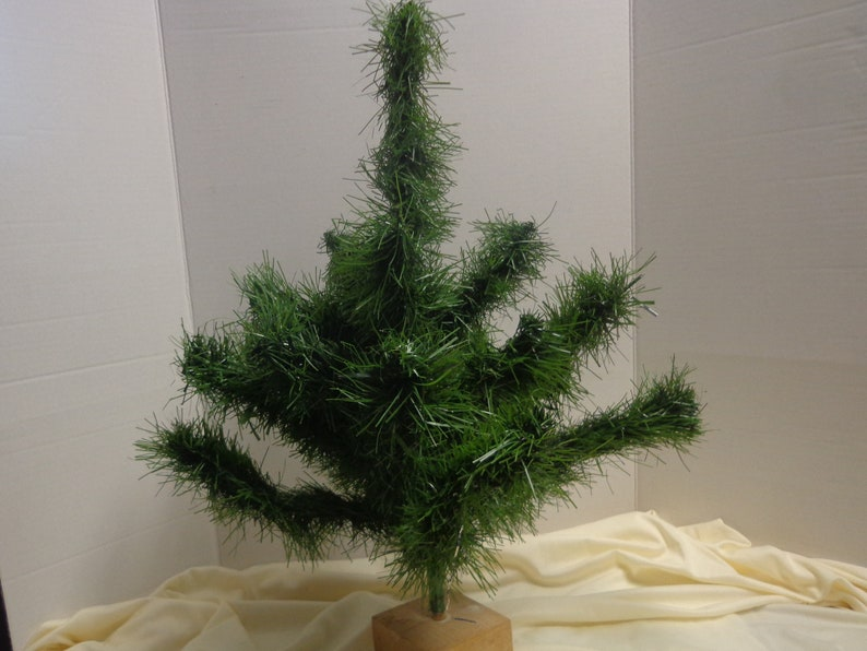 Vintage Artificial Christmas Trees.Artificial 22 Tree Christmas Tabletop Tree To Decorate Vintage Holiday Decor Small Faux Tree