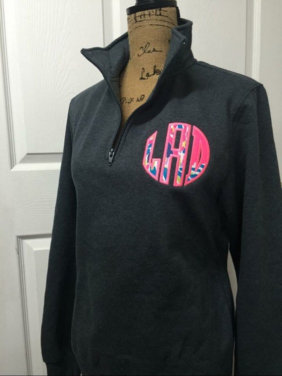 Ladies 14 Zip Personalized Appliqued Pullover Lilly Pulitzer Fabric SALE!!!
