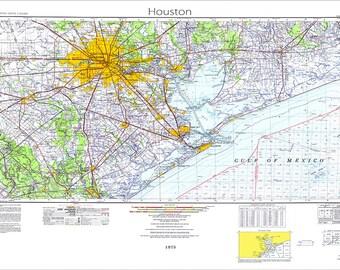 Dallas Map Map Of Dallas Texas Map Dallas Texas Topo Maps Etsy