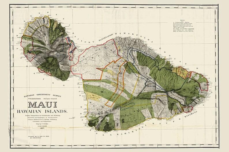 Maui HAWAII Map, Hawaiian Map, Maui, Oahu Map, Hawaii, Vintage Map, on waikiki map, lahaina map, molokai map, reno map, puerto rico map, oahu map, kapalua map, miami map, lihue map, makawao map, kaanapali map, kihei map, hawaii map, pearl harbor map, kauai map, big island map, honolulu map, hawaiian islands map, lanai map, florida map,