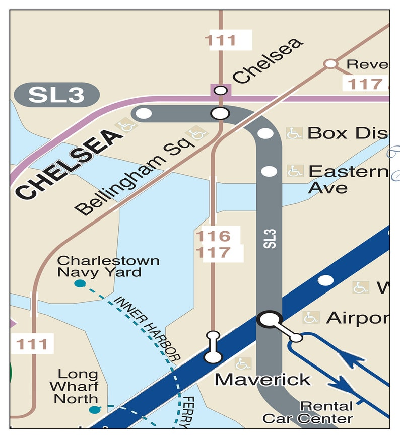 Chelsea Subway Map.Boston Subway Map Boston Metro Map Subway Map Boston Map Subway Art Mbta Map Updated For 2018