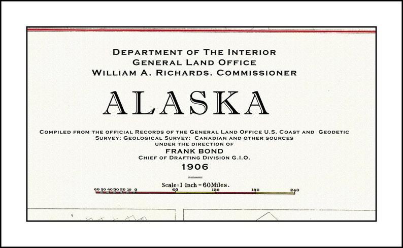 ALASKA MAP Map of Alaska Alaska Print Alaska Art Alaska | Etsy