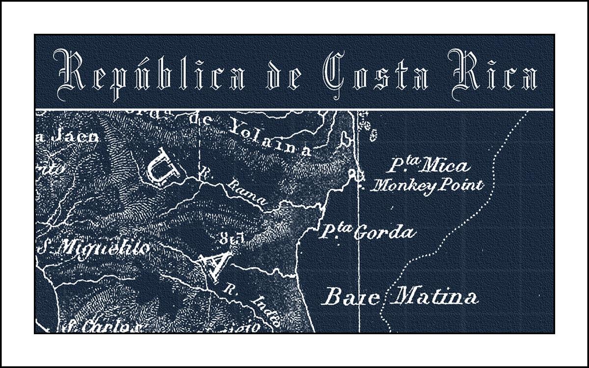 Costa Rica South America Map.Costa Rica Map Map Of Costa Rica Blueprint Map Central America