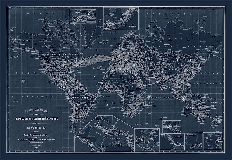 World Map Map Of The World World Blueprint Map World Etsy