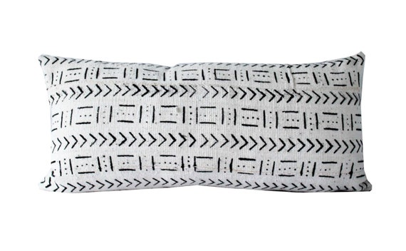 African Mud Cloth Pillow Cover, Arrows