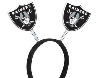 02e1fb29d Oakland Raiders Logo Headband Springy Bouncy Party Supply NFL Decoration