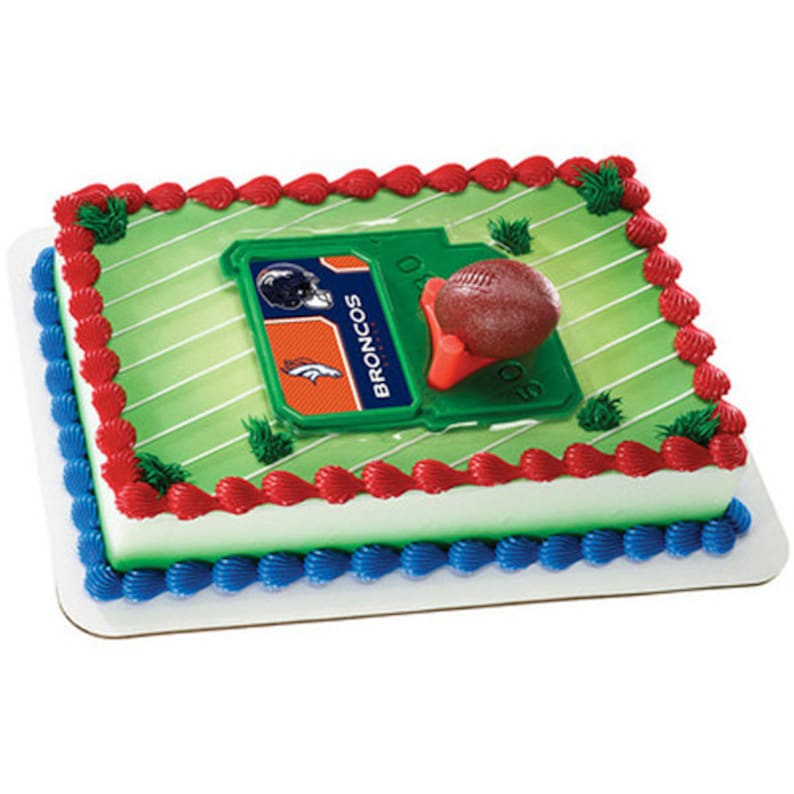 Denver Broncos Cake Kit Cake Toppers Decorations Etsy