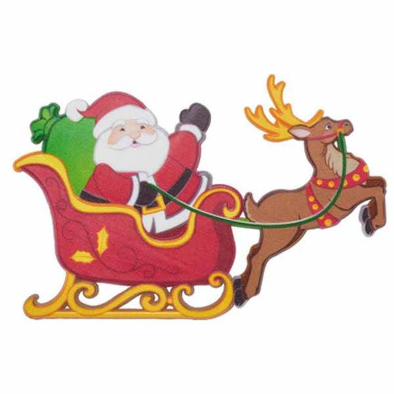 6a140a9ed Santa Sleigh and Reindeer Cake Decorating Kit Cake Toppers Christmas Party  Decor... Santa Sleigh and Reindeer Cake Decorating Kit Cake Toppers  Christmas ...