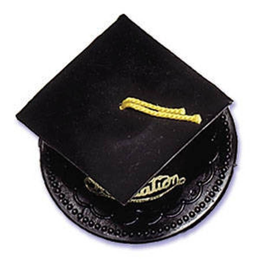 Black Graduation Cap Hat Cake Kit Cake Toppers Decorations ...