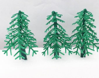 12 Evergreen Christmas Pine Trees Cupcake Picks Party Favors Craft Supply