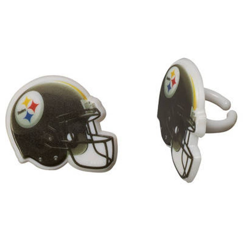 79858743f 12 Pittsburgh Steelers Cupcake Rings NFL Football Toppers