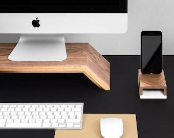 WoodUp OLYMP | Monitor Holzständer für iMac