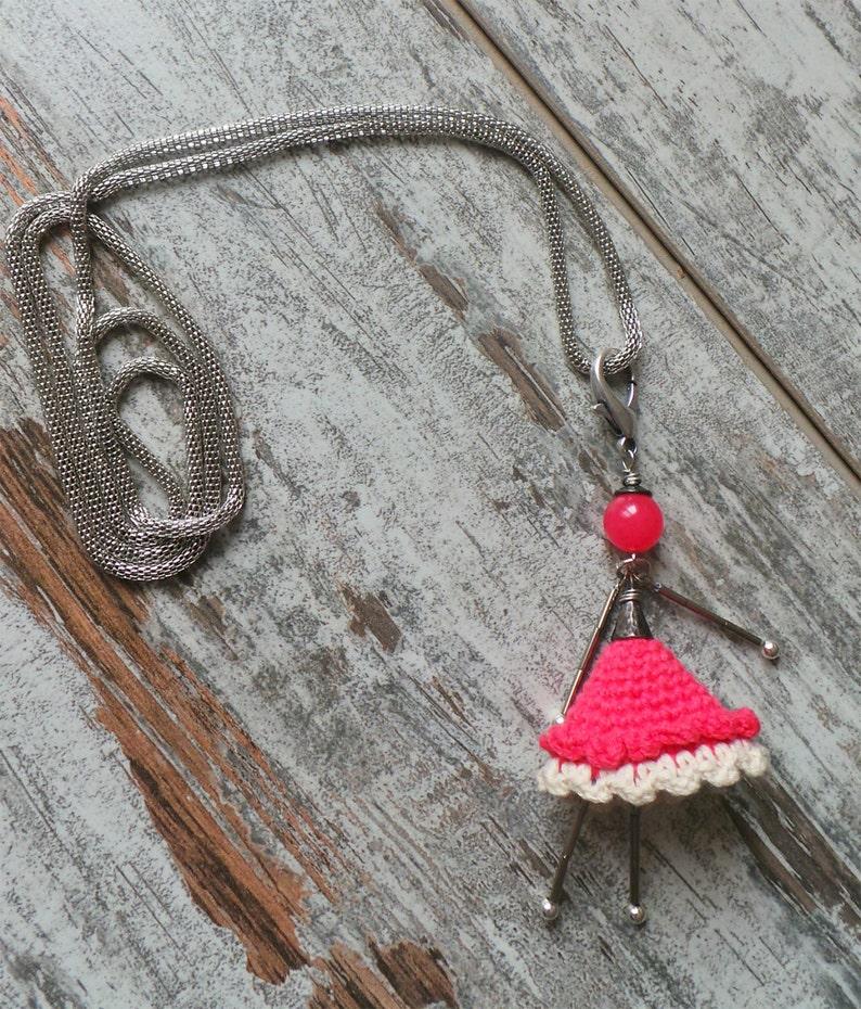 Collana Crochet Bambolina Alluncinetto E Pietre Dure Etsy