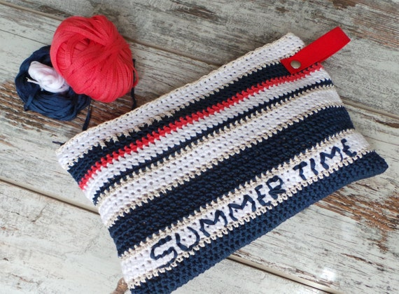 Pochette Alluncinetto In Cotone Borsa A Mano Crochet Etsy