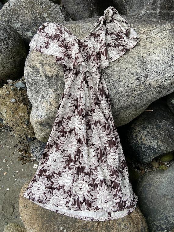 Vintage 70s Flounce Sun Dress