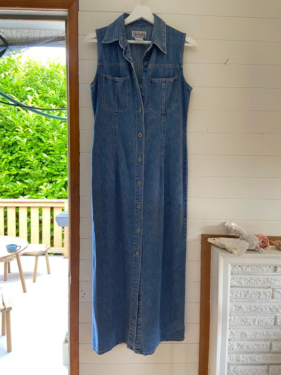 Vintage Bill Blass Jean Button Down Dress