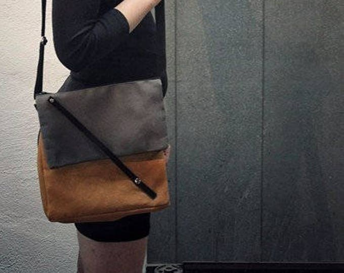 Mamzelle Élise bag, adjustable and eco-friendly black and gray