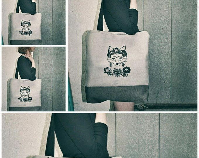 Tote bag, Shopping bag ecofriendly Mamzelle Frida the Fox