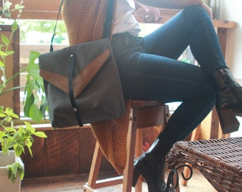 Gabrielle Collection Mamzelle Gatsby Mamzelle Backpack and canvas and screen-printed eco-responsible leather