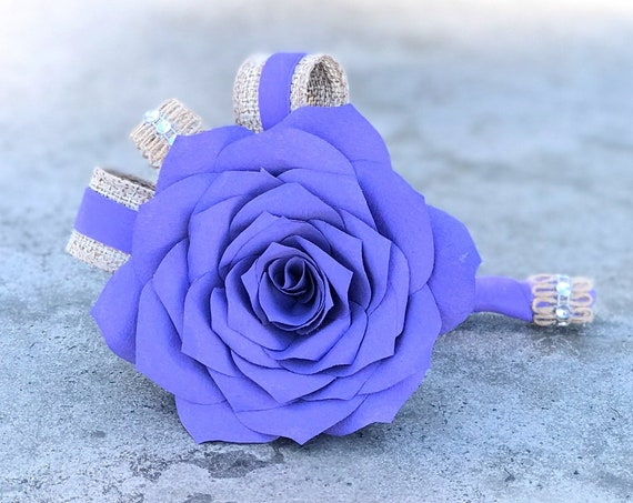 Boutonniere - Paper Flower Boutonniere for Wedding or Events - Customizable