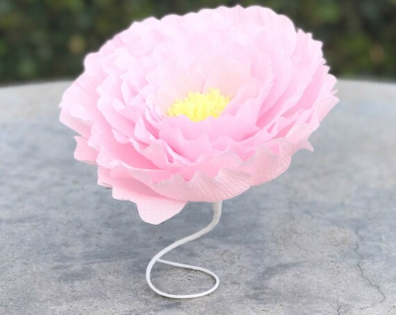 Crepe paper ruffle peony - Paper flowers - 5 - 9- 12 15 inch options in many color choices