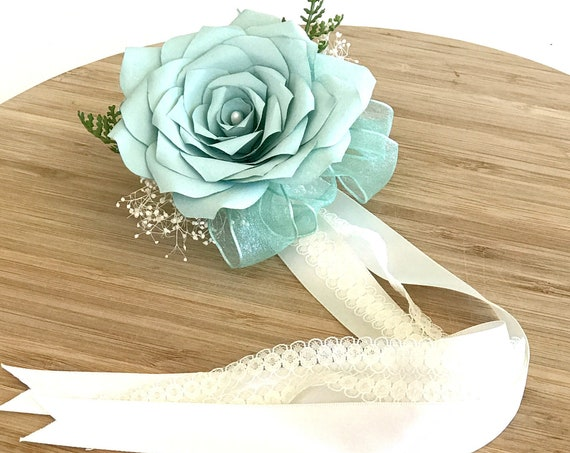 Paper Flower Corsage - Wrist corsage - colors can be customized