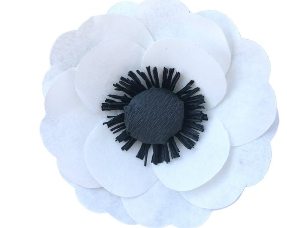 Paper Anemone Flower - Paper flowers - Customizable color