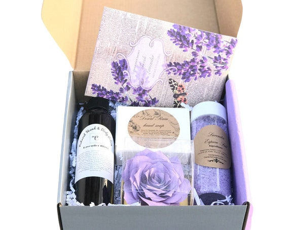 Lavender Gift Box for Women - Birthday Gift - Bridal party gifts