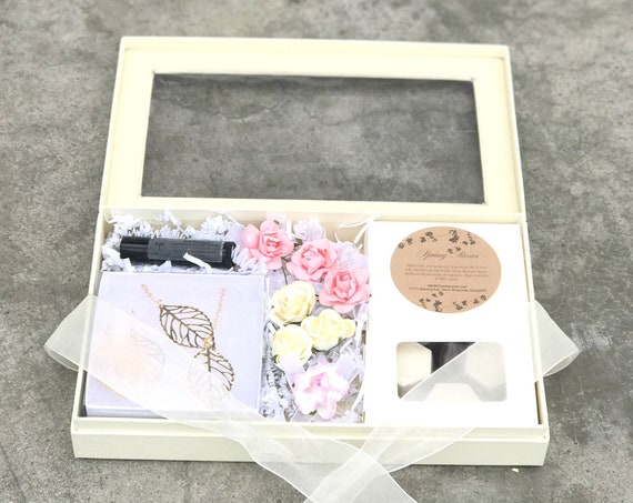 Gift Box for Women - Gold Necklace gift box - Candy gift box for her