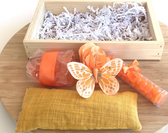 Birthday gift for Women - Orange Citrus Gifts in wood box - Bridal party gifts