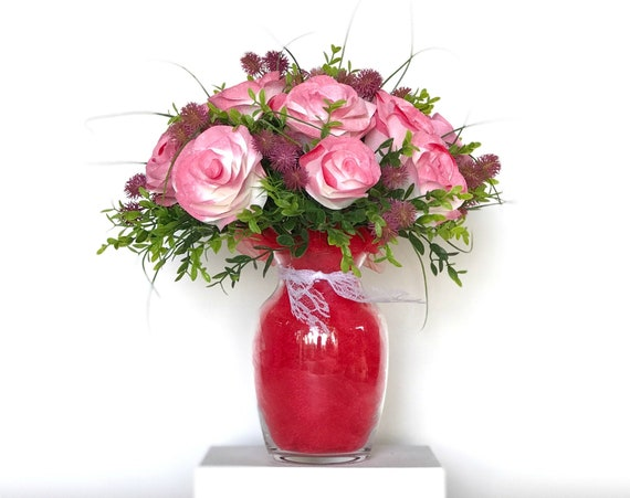Regal Red Paper Rose Gift Bouquet