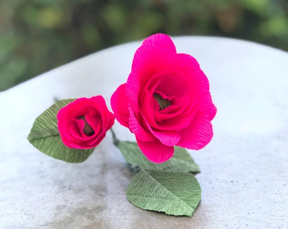 Tea Rose - Crepe Paper Rose